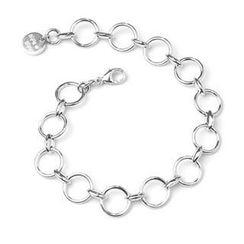 Bling Bling - Bling Bling Platinum Plated 925 Sterling Silver Round Ring Bracelet (7')