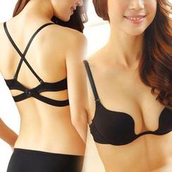 HYG Lingerie - 套装: 无痕承托胸罩 + 内裤