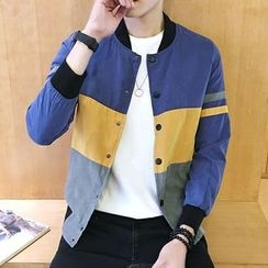 Bay Go Mall - Color Block Baseball Jacket