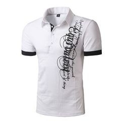 Fireon - Print Short Sleeve Polo Shirt