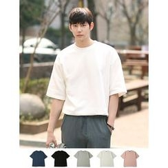 STYLEMAN - Round-Neck Short-Sleeve Colored T-Shirt