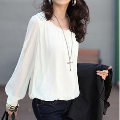 Ringnor - Studded Shoulder Long-Sleeved Blouse