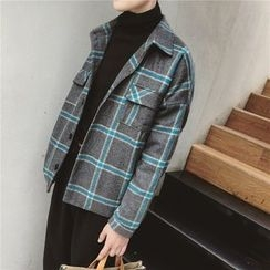 Soulcity - Plaid Button Jacket