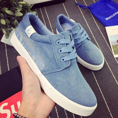 HOKK - Denim Lace Up Sneakers