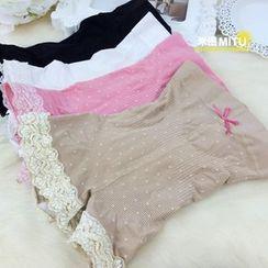 MITU - 薄款蕾絲花邊打底安全褲
