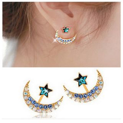 Glamiz - Star and Crescent Moon Ear Jacket