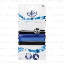Elite - Hair Tie Set: Rhinestone Black + Black x 5 + Navy x 3 + Blue x 3 (#5892)