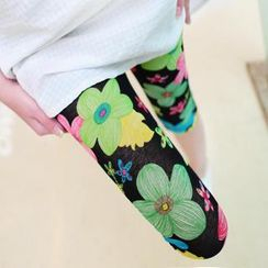 Kleggings - Floral Print Cropped Leggings