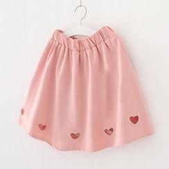 Meimei - Heart Cutout A-Line Skirt