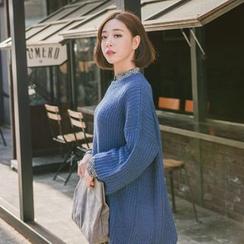 WITH IPUN - Drop-Shoulder Long Sweater