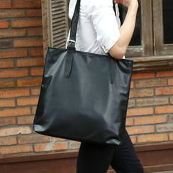 Yiku - Faux-Leather Shopper Bag