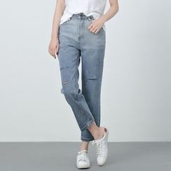 BORAN - Cropped Straight Fit Jeans