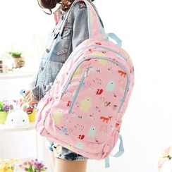 Canvas Love - Bear Print Backpack