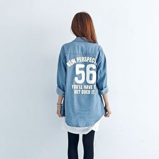 BAIMOMO - Print Denim Shirt