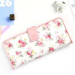 iswas - Floral-Print Long Wallet