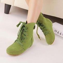 Mancienne - Lace-Up Short Boots