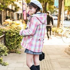 NiFFe - Hooded Plaid Coat