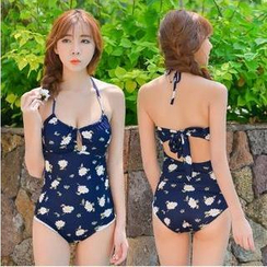 Blue Lagoon - Floral Swimsuit