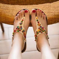 Ginko - Beaded Flip-Flops