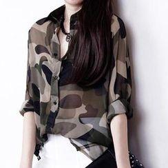 Dream Girl - Camouflage Chiffon Shirt