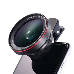 Naranja - 2-in-1 Mobile Lens Kit: Wide Angle + Macro