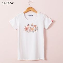 Onoza - Short-Sleeve Floral T-Shirt