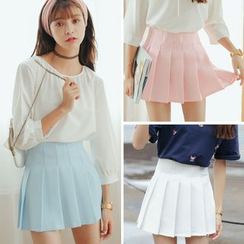 Porta - Pleated Mini Skirt