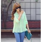 REDOPIN - Chiffon Accordion-Pleat Blouse