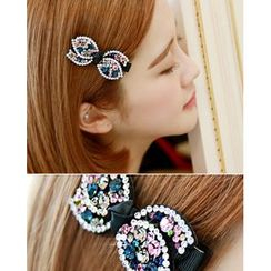 Miss21 Korea - Rhinestone-Accent Hair Pin