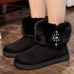 Renben - Fleece Snow Short Boots