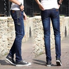 Rocksoul - Washed Straight Leg Jeans