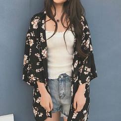 Aesthetica - Open-Front Kimono Sleeve Cardigan