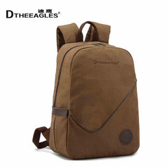 DtheEagles - Leather-Trim Canvas Backpack
