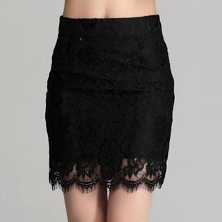 Muzi - Lace Pencil Skirt
