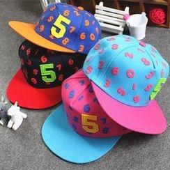 LIONPISCES - 兒童數字圖案棒球帽