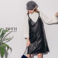 PUFII - Faux-Leather Dress
