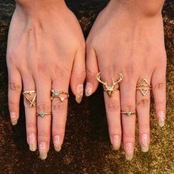 Seirios - Patterned Ring Set