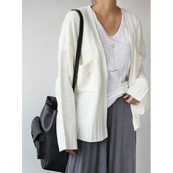STYLEBYYAM - Wide-Sleeve Open-Front Cardigan
