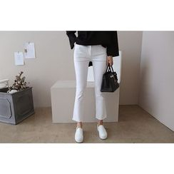 DAILY LOOK - Flat-Front Straight-Cut Pants