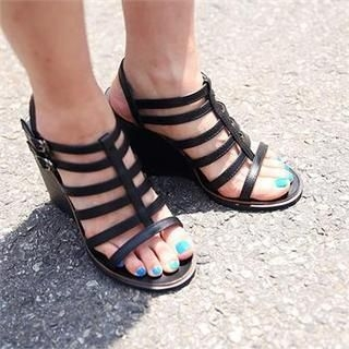 midnightCOCO - Gladiator Wedge Sandals