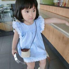 Happy Lala - Kids Short-Sleeve Paneled Dress