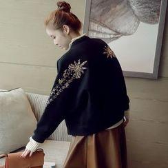 Munai - Embroidered Button Jacket