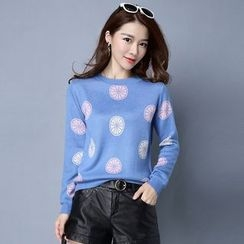 Romantica - Patterned Knit Top