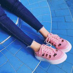 Chryse - 鏤空厚底休閑鞋