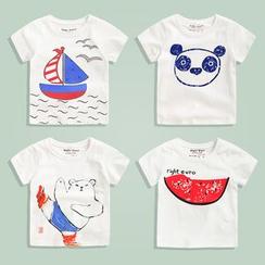 lalalove - 童裝印花短袖T恤