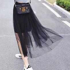 Eva Fashion - Mesh Maxi Skirt