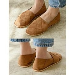 FROMBEGINNING - Faux-Suede Moccasins