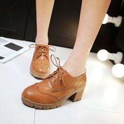 Pastel Pairs - Chunky Heel Oxfords