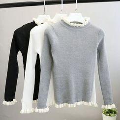 Phantasy - Frill Trim Knit Top