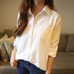 Rocho - 純色襯衫